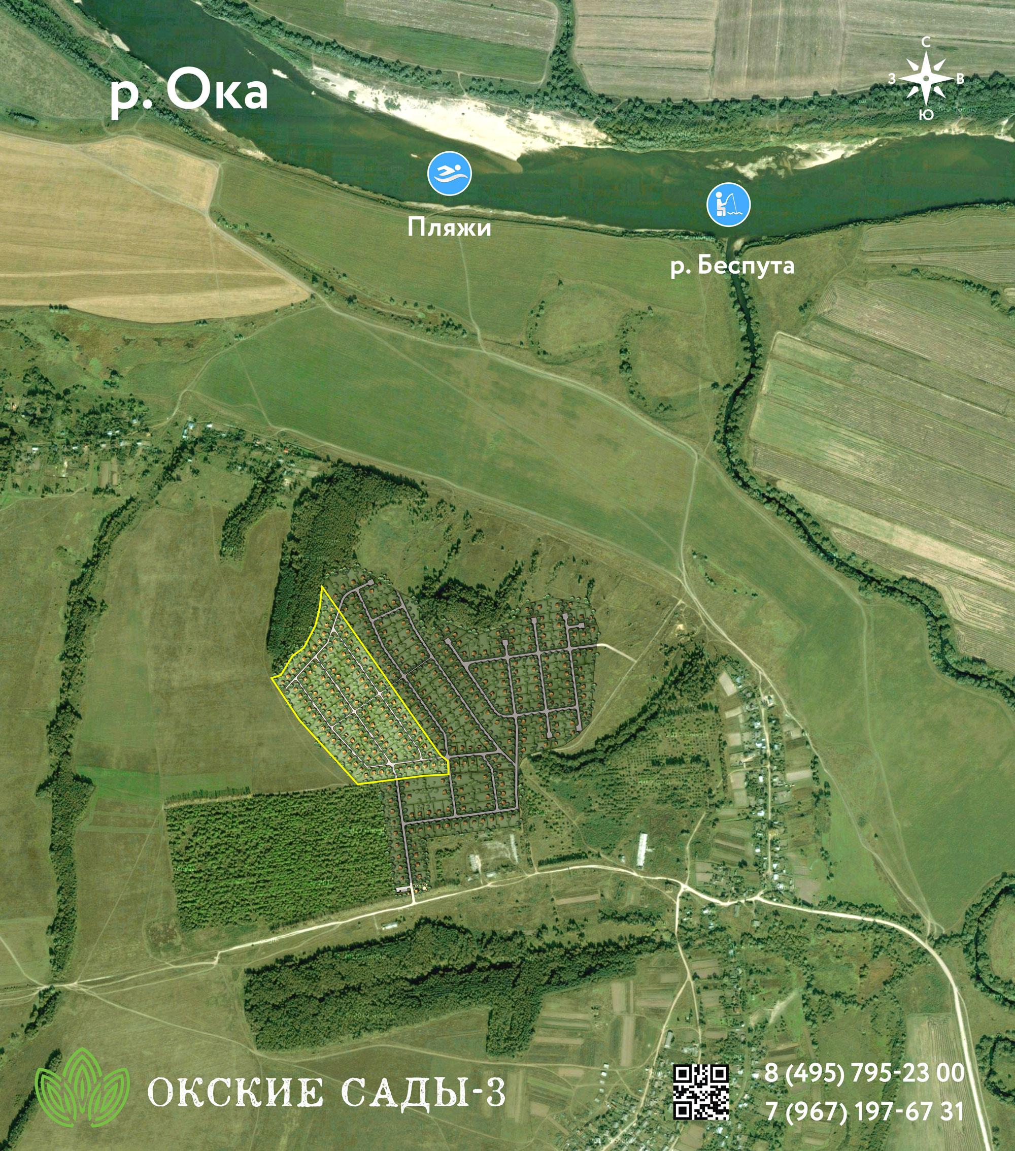 План поселка «Окские Сады-3»
