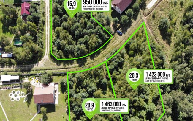 15 соток 950 000 руб Лесной участок на Оке